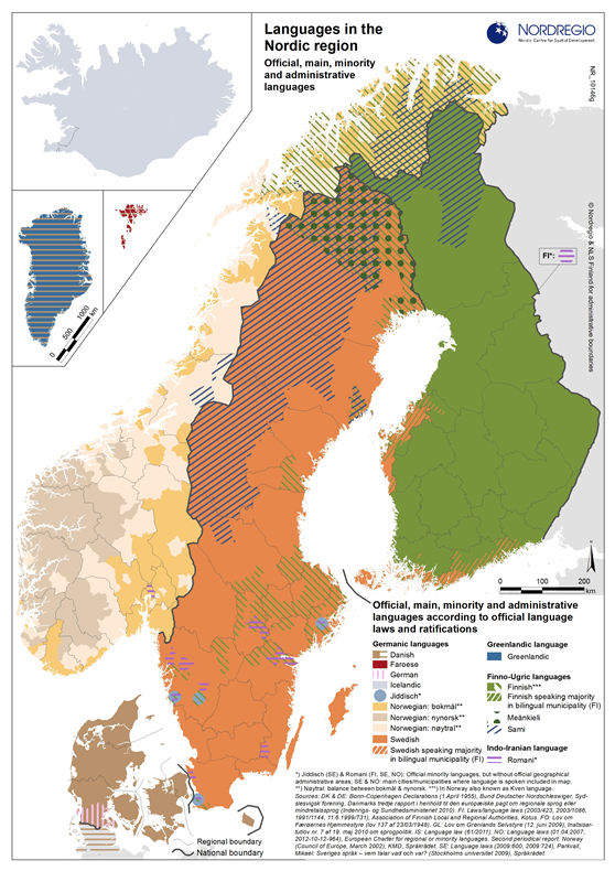 Nordic Language Map Department Of Scandinavian UC Berkeley - Norway language map